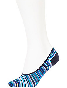 Stripes & dots no-show socks 2-pack