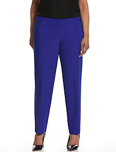 Sophie double weave slit-ankle pant