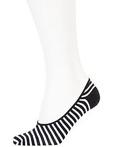 Stripes & dot no-show socks 2-pack