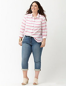Striped casual buttondown shirt
