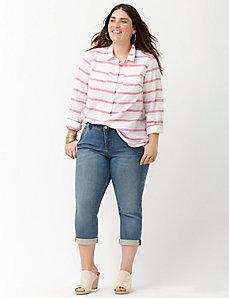 Striped casual buttondown shirt