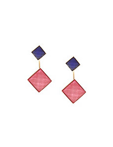 Square front to back earrings