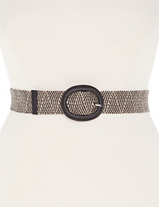 Patterned straw stretch belt