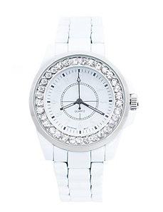 White strap fashion watch