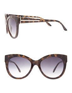Cat-eye sunglasses with hardware trim