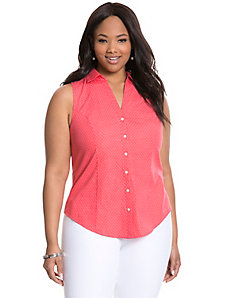 Polka dot sleeveless Perfect Shirt