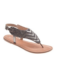 Nella embellished leather sandal