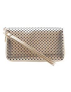 Perforated wristlet bag