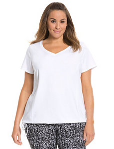 Signature Stretch side-tie tee