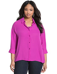 Dolman button-down blouse