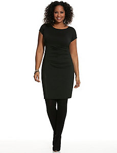 Zipper dress with draping