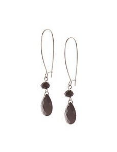 Teardrop A-wire earrings