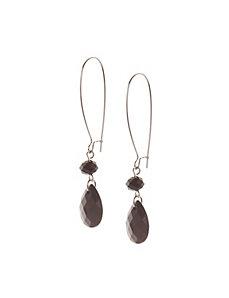 Teardrop A-wire earrings