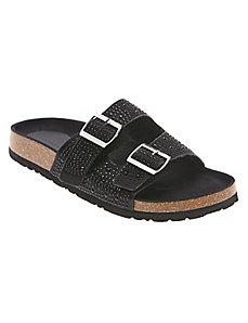 Embellished foot bed sandal