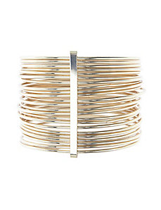 Gathered bangle bracelets