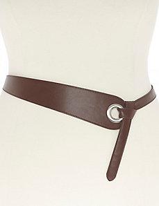 Grommet flip belt