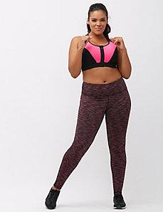 Strappy back zip front sport bra