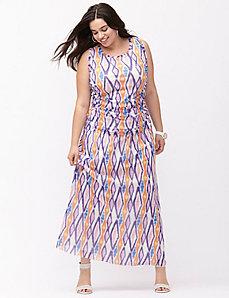 Patterned mesh skirt