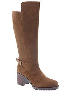 Clarissa suede heeled boot