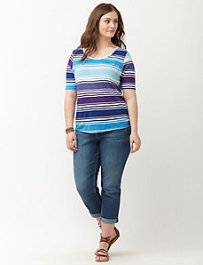 Supima modal striped tee