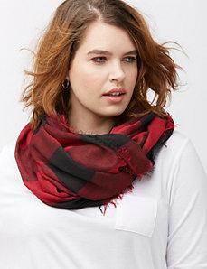 Buffalo check eternity scarf