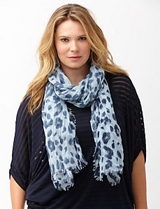 Animal print oblong scarf