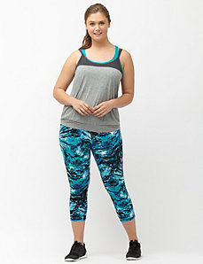 Signature Stretch printed active capri legging