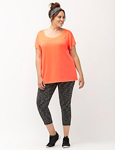 Wicking active capri legging