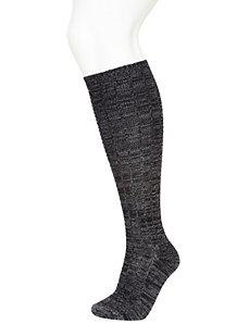 Marled boot sock