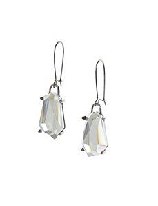 Mirrored stone drop earrings