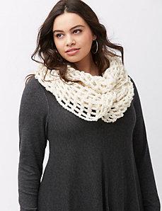 Open weave eternity scarf