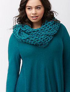 Open weave eternity scarf