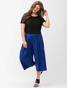 Tailored Stretch extreme wide leg crop