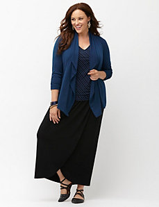 Simply Chic matte jersey draped jacket
