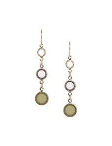 Triple stone drop earrings