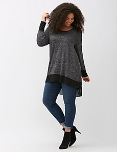 High-low sweater by Melissa McCarthy Seven7