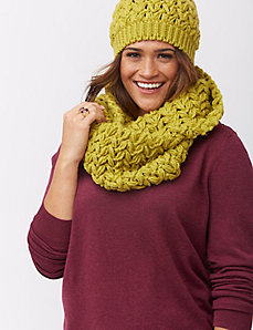 Crochet eternity scarf