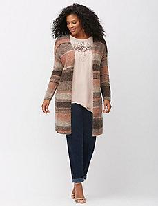 Striped Italian yarn overpiece sweater
