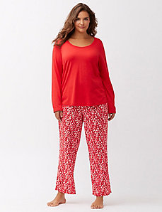 Holiday print 2-piece PJ set