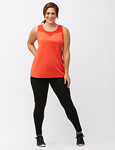 TruDry wicking mesh cut out active tank