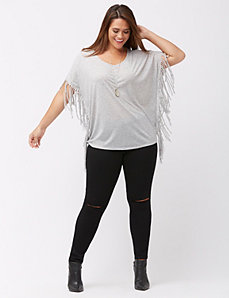 Fringe wedge tee