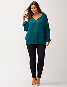 Embellished peasant top