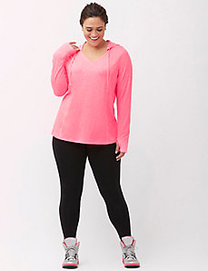 Wicking pullover active hoodie