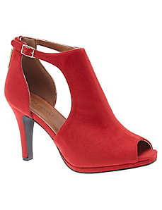 Peep toe cut out heel