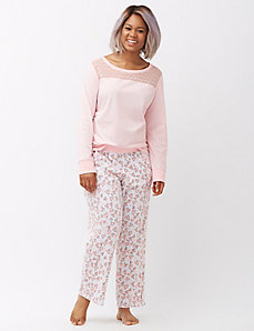 Printed knit sleep pant