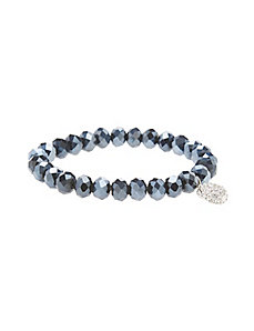Stretch bracelet with pave charm