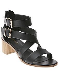 Buckled heeled sandal