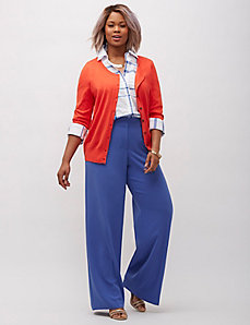 Infinite Stretch crepe wide leg pant