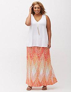 Printed Knit Maxi Skirt