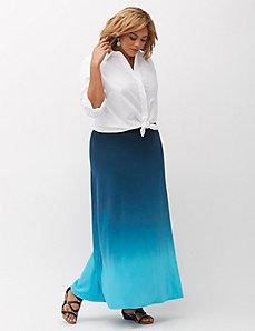 Print Knit Maxi Skirt
